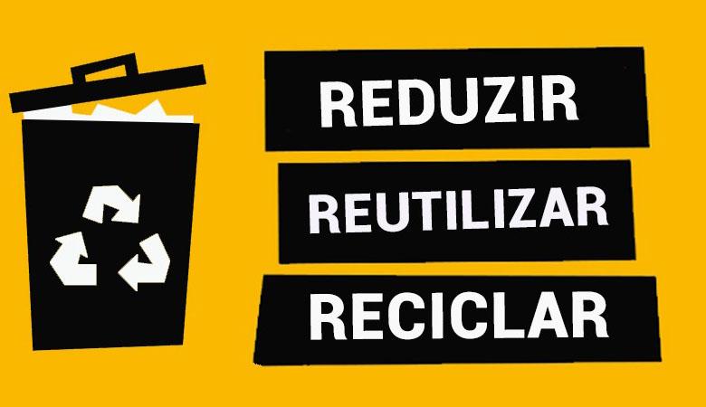 Foto de Reduzir, Reutilizar e Reciclar
