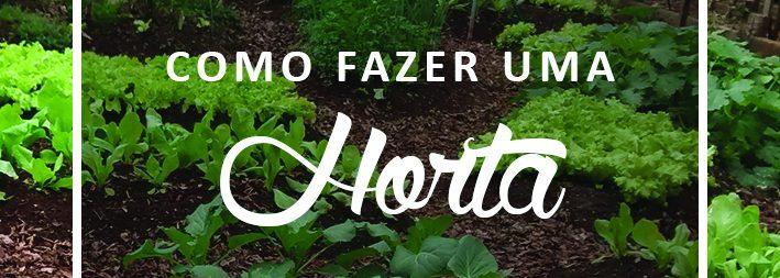Horta orgânica em casa